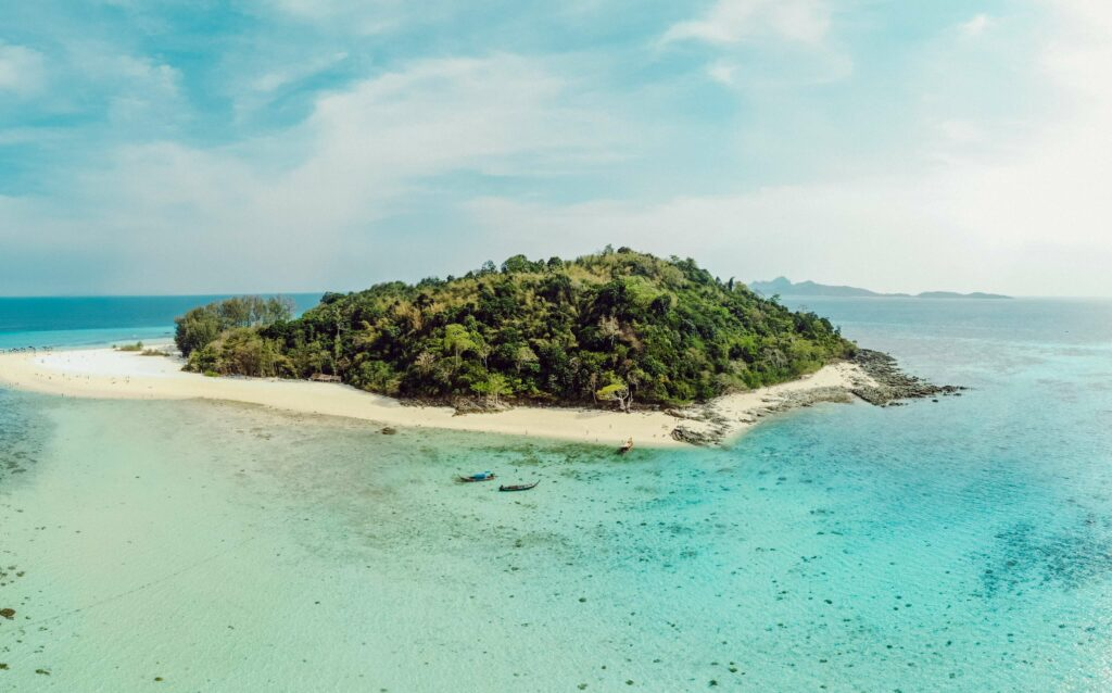Aerial view of Bamboo Island National Marine Park