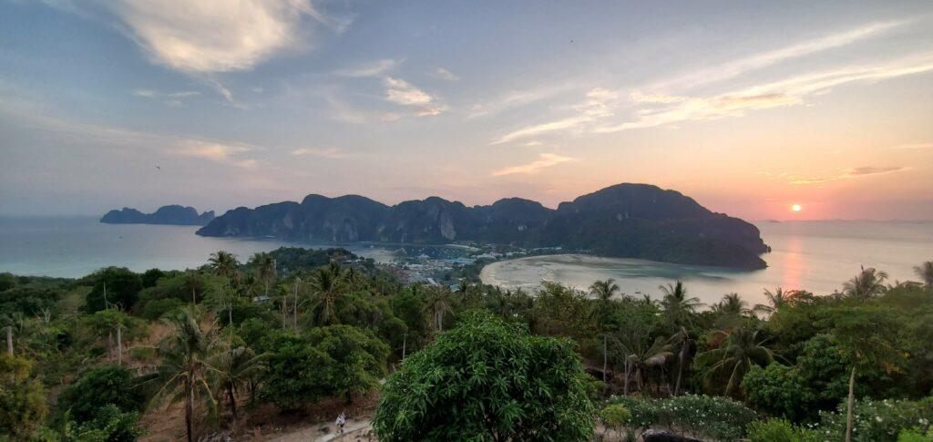 Sunset from the viewpoint 2 platform on Phi Phi Don