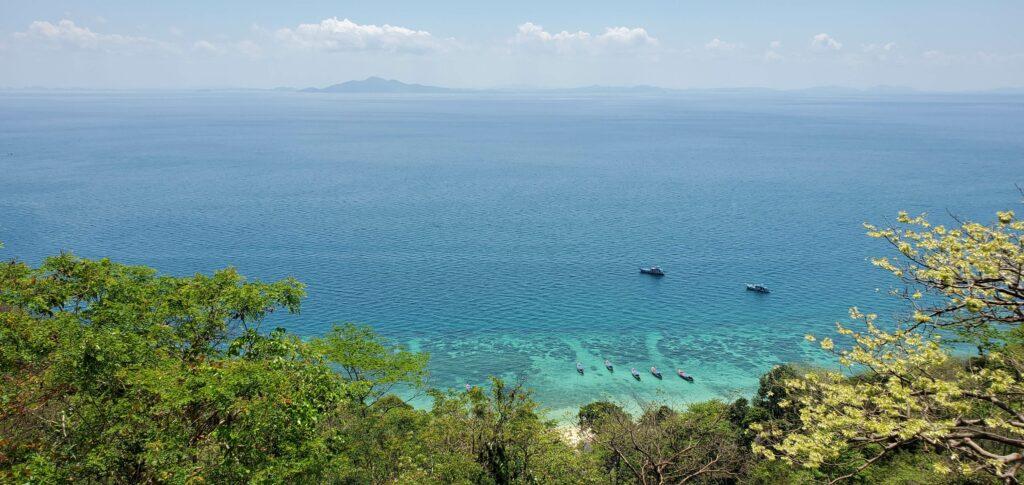 Panoramic ocean view of Phak Nam Bay -  Koh Phi Phi, Thailand