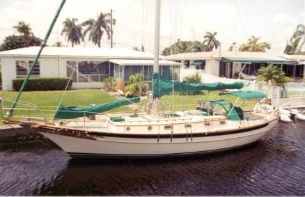 Cabo Rico sailboat with green sails