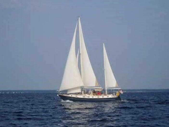 Gulfstar 44 sailboat at sea