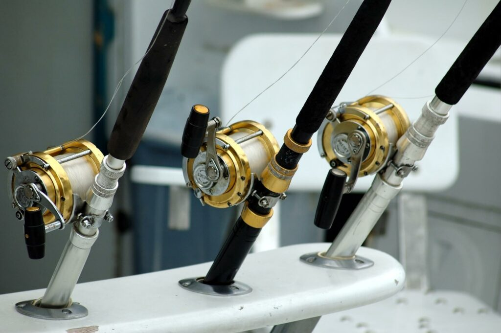 Deep-sea fishing rods and reels