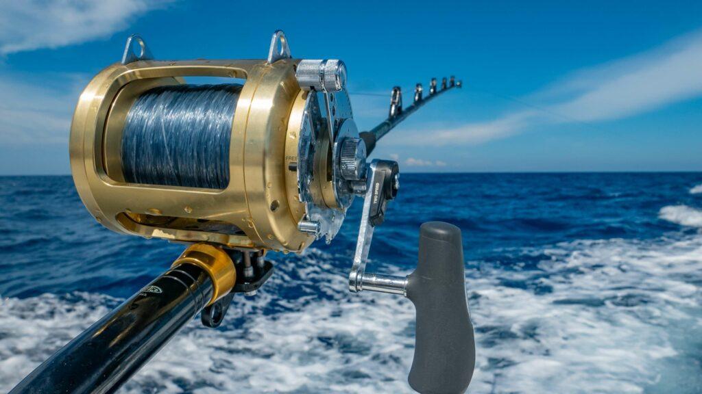 Trolling deep-sea fishing rod and reel