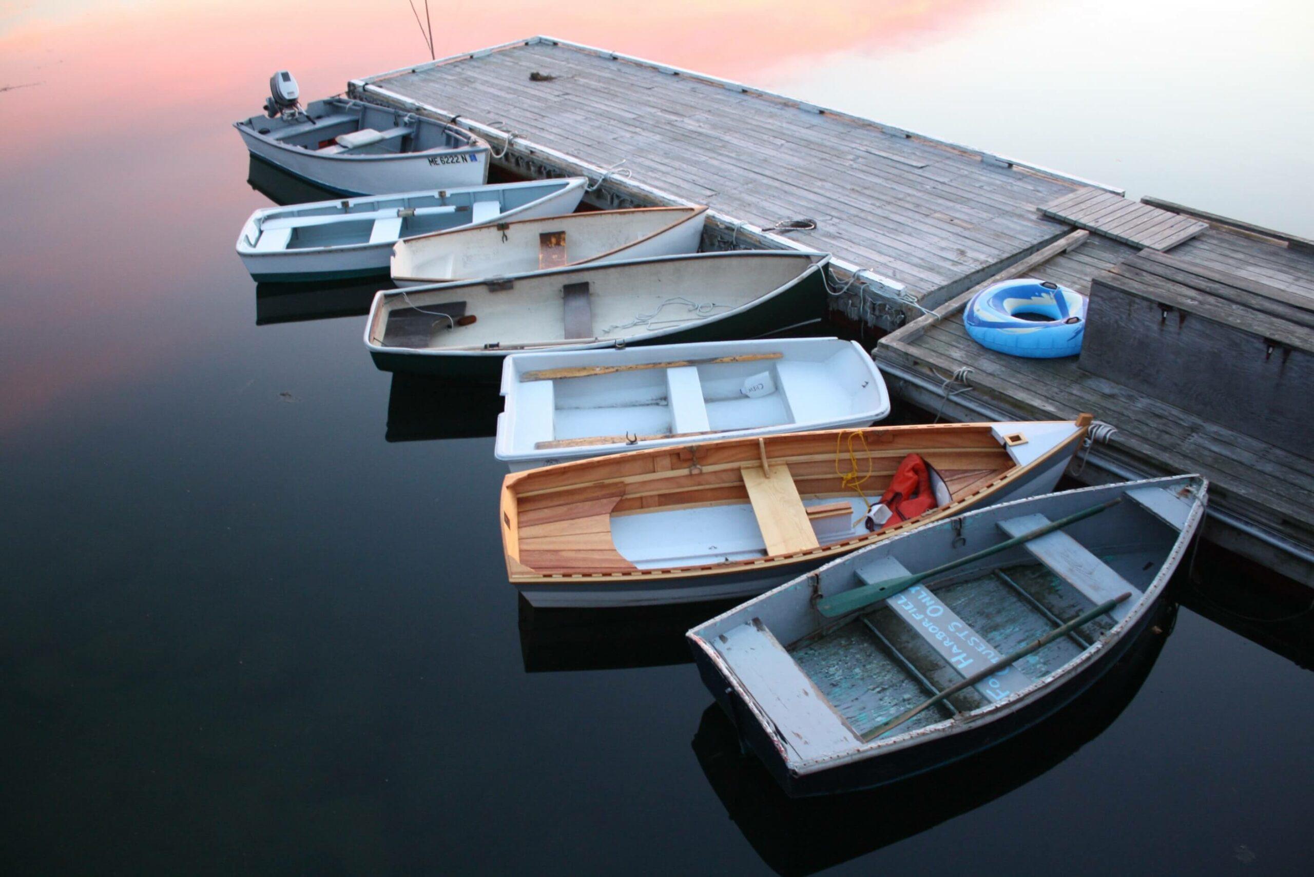 hard body dinghy pier