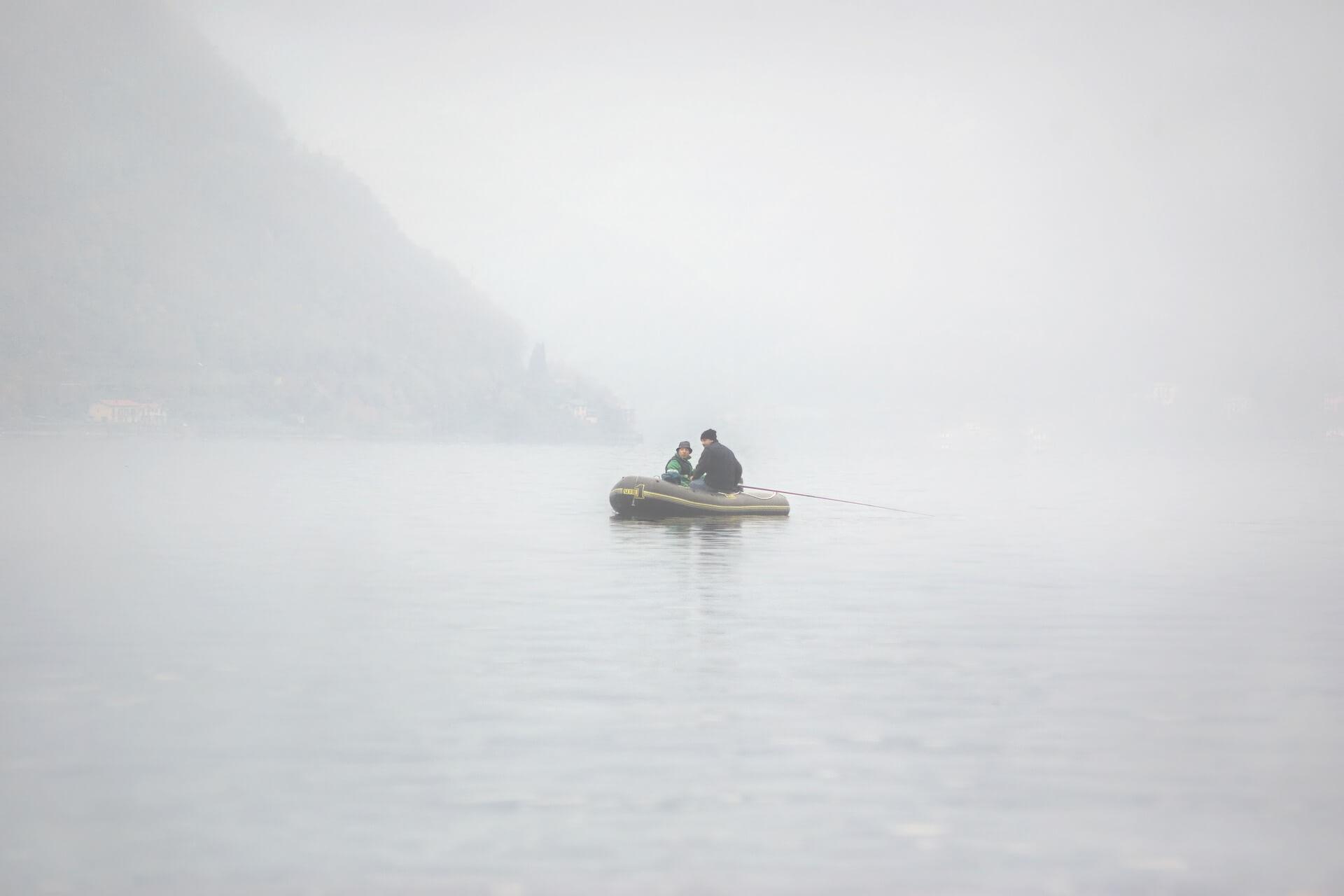 inflatable fishing dinghy lake