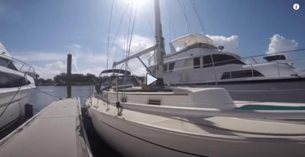 Niagara 35 yacht at a dock