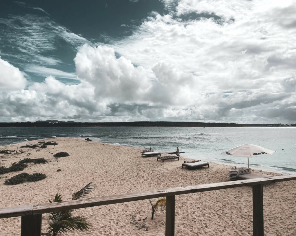 Cloudy day at the beach in Anguilla
