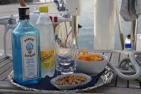 boat drinking snacking setup