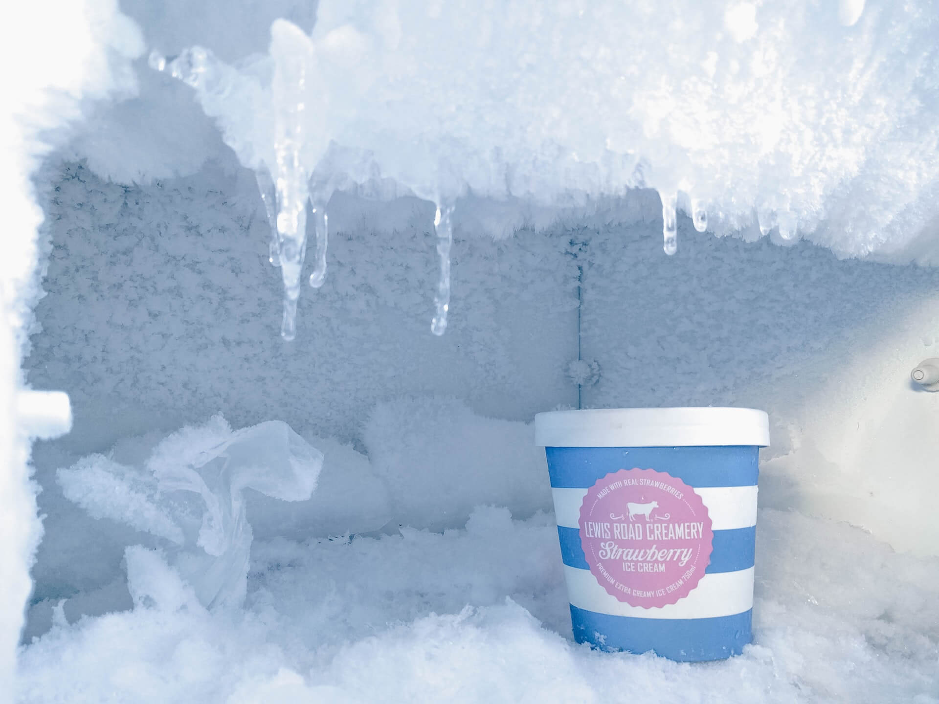 freezer storage ice cream