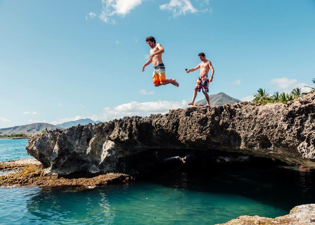 guys island cliff jumping