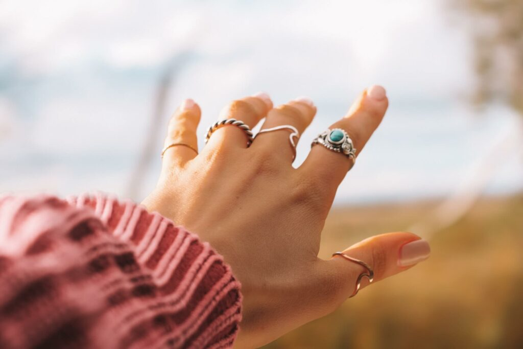 Jewelry on a woman's hand