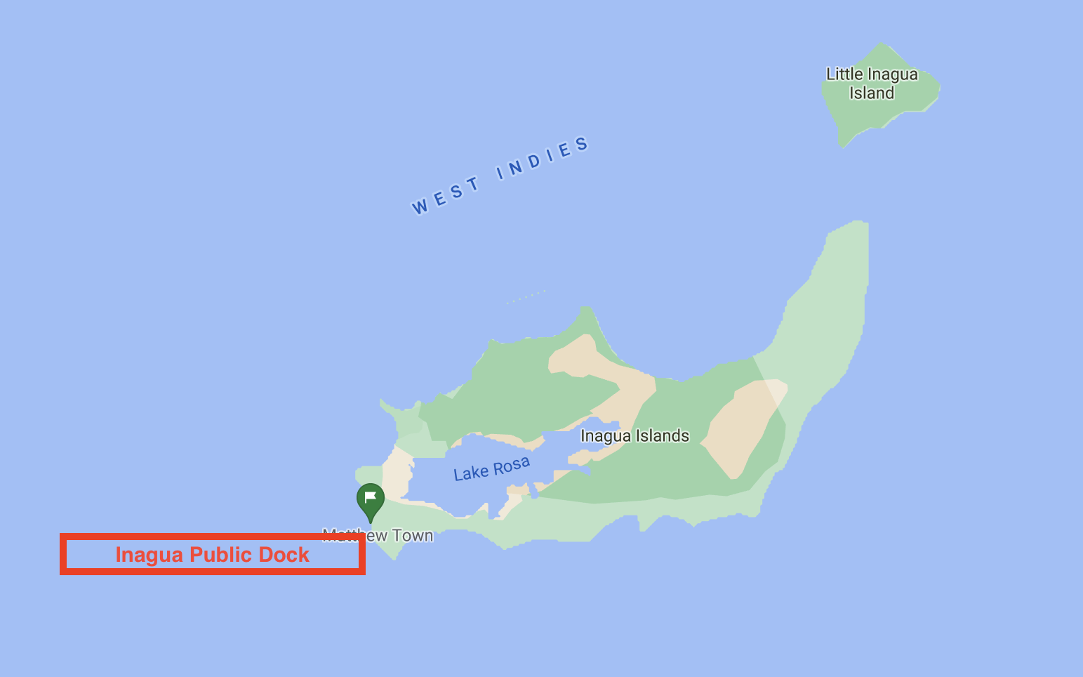 Map of Inagua ports of entry