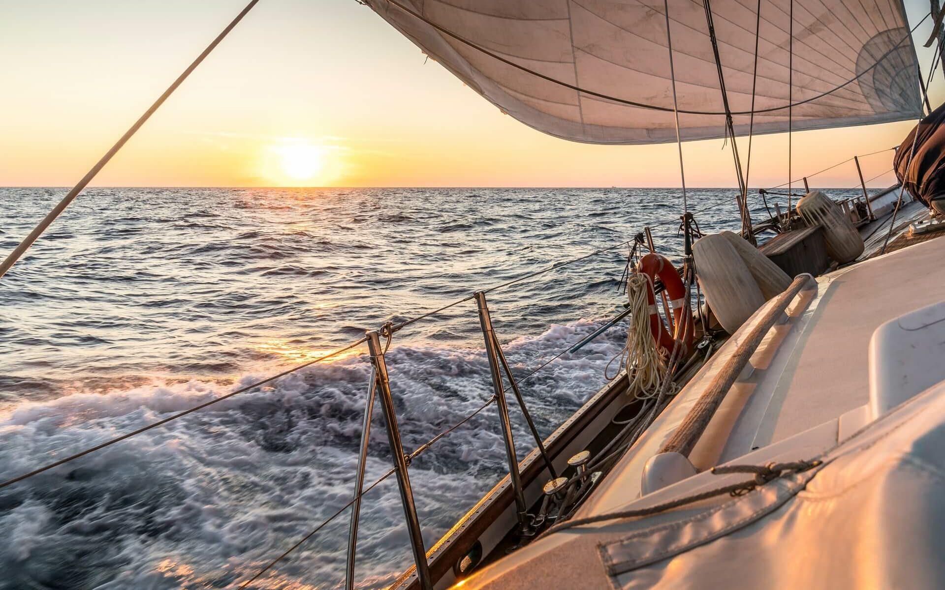 sailing around the world on a single hull sailboat